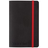 Black n' Red Soft Cover Business Journal, A6, Numbered Pages, 144 Pages
