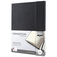 Sigel Conceptum Hard Cover Notebook, A4, Magnetic Fastener, Ruled, 194 Pages