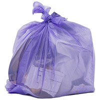 Robinson Young Le Cube Pedal Bin Liners, Heavy Duty, 12 Litre, 440x450mm, Lilac, Pack of 300