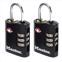 Master Lock Combination Padlock TSA Certified Ref 4680DBLK [Pack 2]