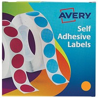 Avery Dispenser for 19mm Diameter Labels, Orange, 24-608, 1120 Labels