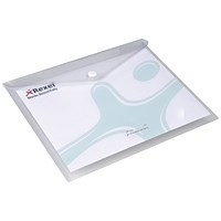 Rexel A3 Popper Wallet Folders / White / Pack of 5