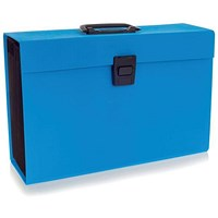 Rexel JOY Expanding Organiser File, 19-Part, Blissful Blue