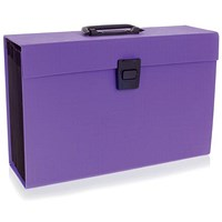 Rexel JOY Expanding Organiser File, 19-Part, Purple