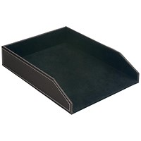 5 Star Letter Tray - Brown Faux Leather
