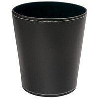 5 Star Waste Bin, Faux Leather, Brown