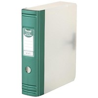 Hermes Plastic Box File, 80mm Spine, A4, Metallic Green