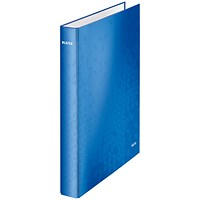 Leitz WOW Ring Binder, A4, 2 D-Ring, 25mm Capacity, Blue, Pack of 10
