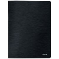 Leitz Style A4 Soft Cover Display Book, 20 Pockets, Black