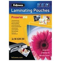 Fellowes A4 Laminating Pouches, Thick, 500 Micron, Glossy, Pack of 100