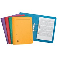Exacompta Transfer Files, 285gsm, Foolscap, Assorted, Pack of 25