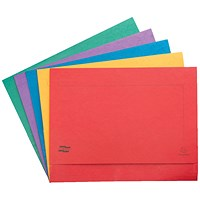 Exacompta A3 Document Wallets Half Flap, 265gsm, Assorted, Pack of 25