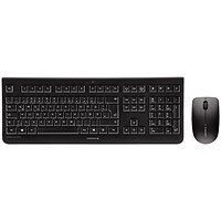 Cherry DW3000 Wireless Desktop Keyboard & Optical Mouse, 2.4GHz, Black
