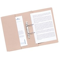 Guildhall Front Pocket Transfer Files, 315gsm, Foolscap, Buff, Pack of 25