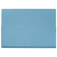 Guildhall Full Flap Legal Document Wallets, 315gsm, W356xH254mm, Blue, Pack of 50