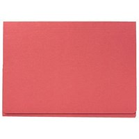 Guildhall Full Flap Legal Document Wallets, 315gsm, W356xH254mm, Red, Pack of 50