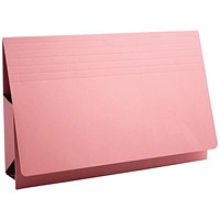 Guildhall Probate Wallets, Manilla, 315gsm, 75mm, Foolscap, Pink, Pack of 25