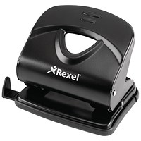 Rexel V230 Value 2-Hole Punch, Black, Punch capacity: 30 Sheets