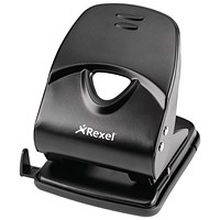 Rexel V240 Value 2-Hole Punch, Black, Punch capacity: 40 Sheets