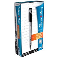 Paper Mate Flexgrip Ultra Ball Point Pen, Medium, Black, Pack of 12