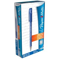 Paper Mate Flexgrip Ultra Ball Point Pen, Medium, Blue, Pack of 12