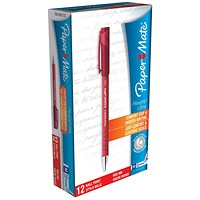 Paper Mate Flexgrip Ultra Ball Point Pen, Medium, Red, Pack of 12