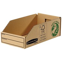 Bankers Box Storage Bin, Corrugated Fibreboard, Packed Flat, W147xD280xH102mm, Pack of 50
