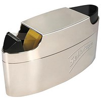 Sellotape Executive Dispenser, Capacity: 25mm Width, 66m Length, Integral Pen Tidy, Chrome
