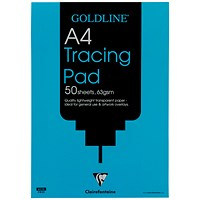 Goldline Popular Tracing Pad, A4, 63gsm, 50 Sheets, Pack of 5