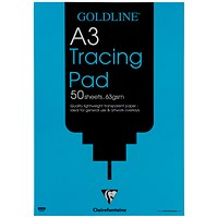 Goldline Popular Tracing Pad, A3, 63gsm, 50 Sheets, Pack of 5