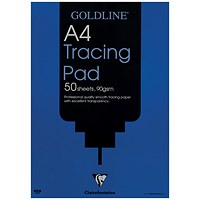 Goldline Professional Tracing Pad, A4, 90gsm, 50 Sheets, Pack of 5