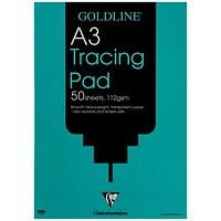 Goldline Heavyweight Tracing Pad, A3, 112gsm, 50 Sheets, Pack of 5