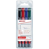 Edding 361 Whiteboard Marker, Bullet Tip, Assorted Colours, Pack of 4