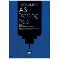 Goldline Professional Tracing Pad, A3, 90gsm, 50 Sheets, Pack of 5