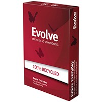 Evolve A4 Everyday Recycled Paper, White, 80gsm, 500 Sheets