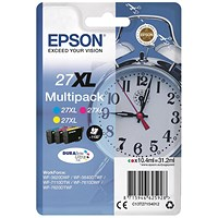 Epson 27XL High Yield Inkjet Cartridge Multipack - Cyan, Magenta and Yellow (3 Cartridges)