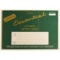 Collins Accident Report Book A5 Landscape 210x148mm
