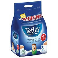 Tetley Two Cup Tea Bags - Pack of 275