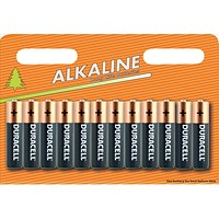 Duracell Alkaline Battery, AA, Pack of 12