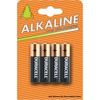 Duracell Alkaline Battery, AAA, Pack of 4