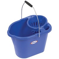 Oval Mop Bucket, 12 Litre, Blue