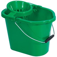 Oval Mop Bucket, 12 Litre, Green