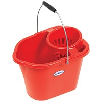 Oval Mop Bucket, 12 Litre, Red