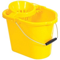 Oval Mop Bucket, 12 Litre, Yellow