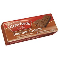 Crawfords Bourbon Biscuits, Pack of 12 (150g)