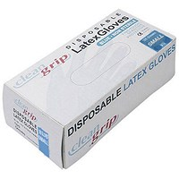 Powdered Disposable Latex Gloves - Small