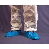 Disposable Overshoe, Waterproof, Elasticated, 16 inch, Blue, Pack of 2000