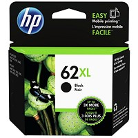 HP 62XL Black High Yield Ink Cartridge