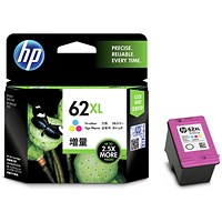 HP 62XL High Yield Tri-Colour Ink Cartridge