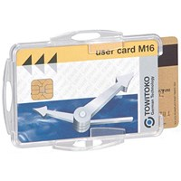Durable Dual Swipe Card Holders, 85x54mm, Pack of 50